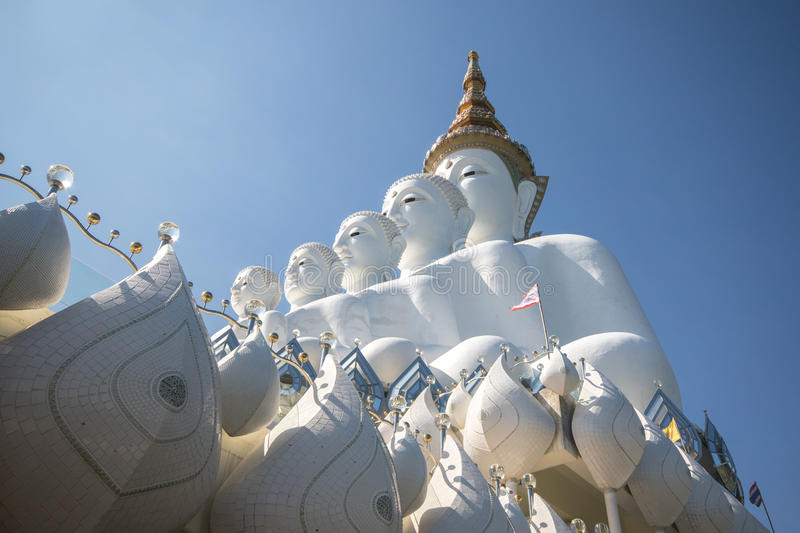 Buddha statue. White buddha statue in a temple, thailand royalty free stock photos