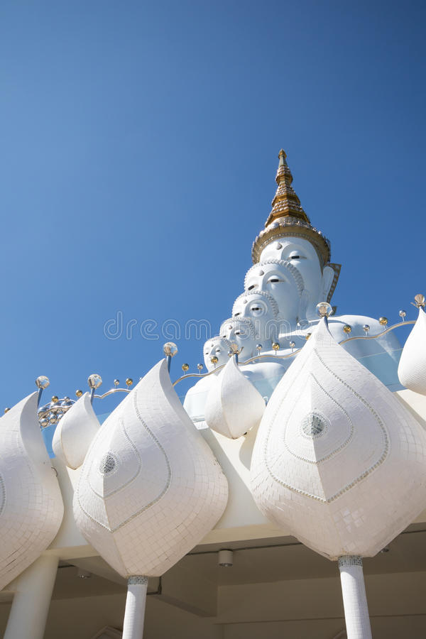 Buddha statue. White buddha statue in a temple, thailand stock image
