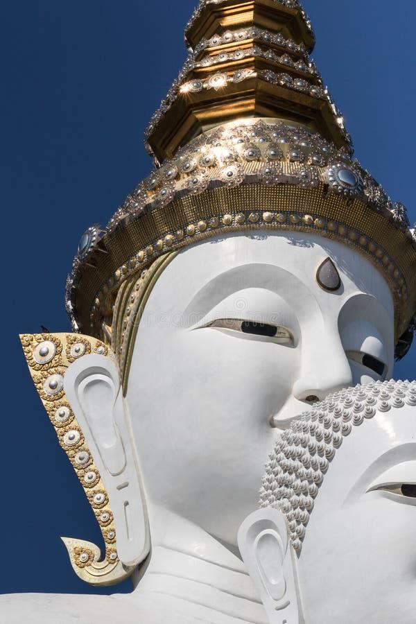 Buddha statue. White buddha statue in a temple, thailand stock photos