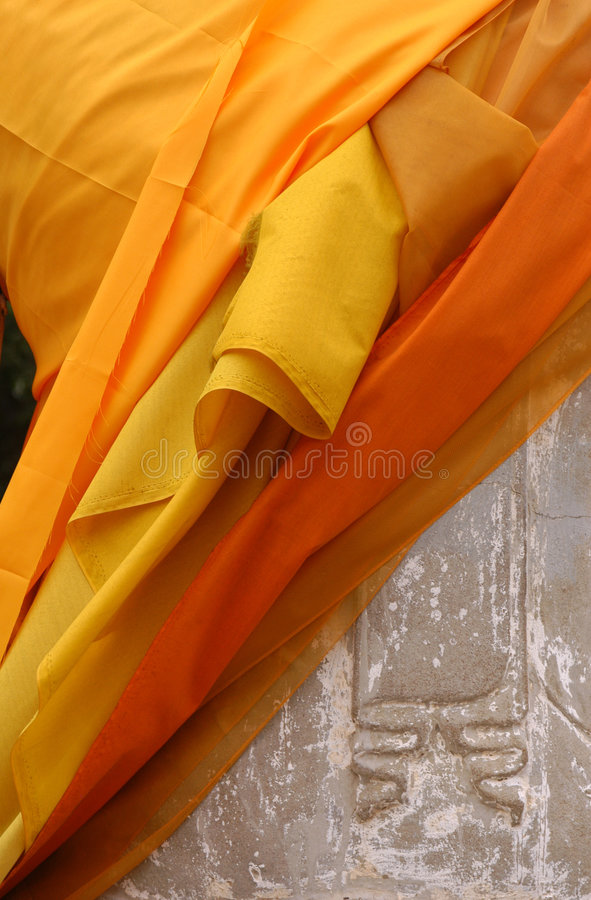 Download Buddha Statue Wrapped In Orange Fabric Stock Image - Image: 505491