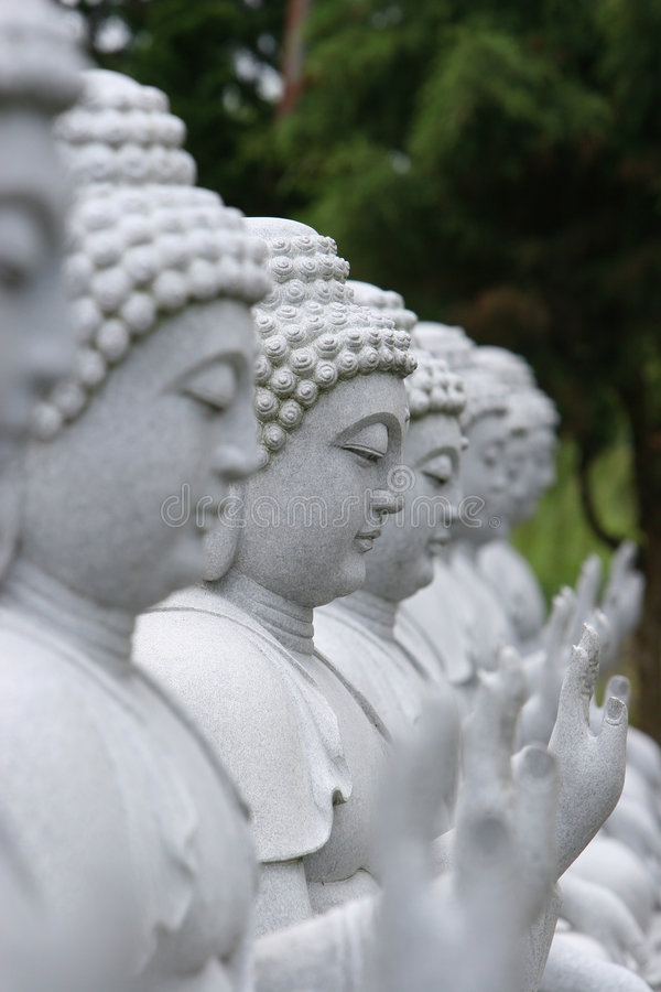Buddha-Statuen lizenzfreies stockbild