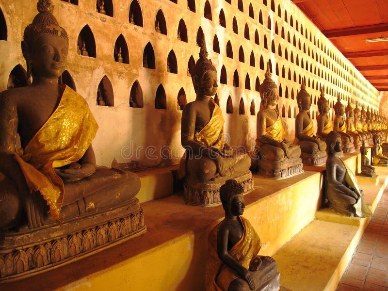 Buddha-Statuen - Laos stockbild