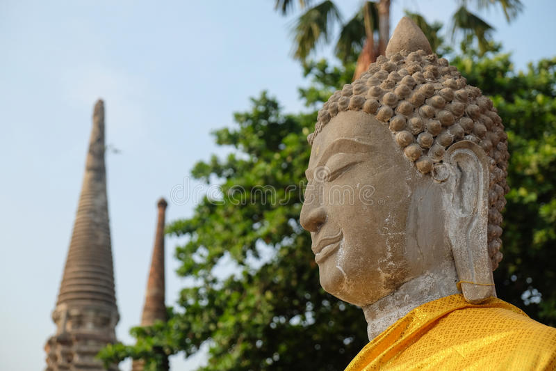 Buddha statues. In Ayutthaya,Thailand stock photography