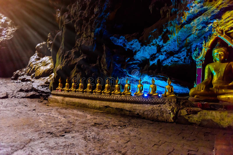 Buddha statues : The Khao Luang cave stock images
