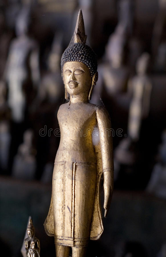 Download Golden Buddha Image In Cave Stock Photo - Image: 29899190