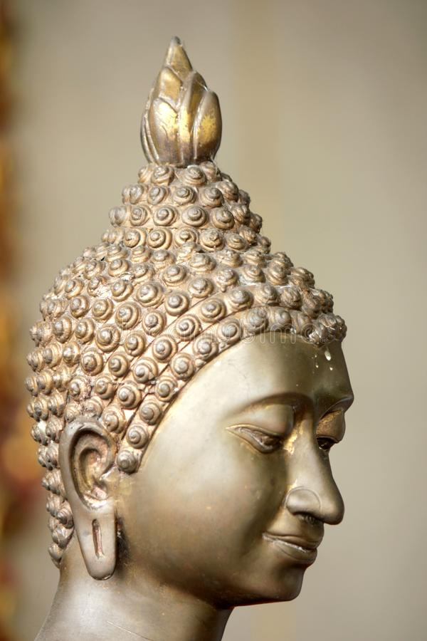 Buddha statues in various postures. Buddha statue that Buddhists respect stock photography