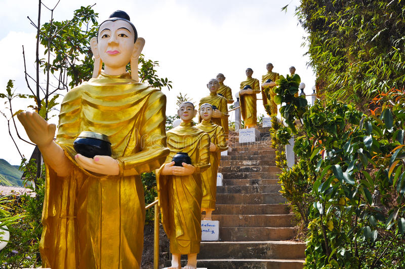 Download Buddha Statues  Were Walking Alms Stock Image - Image of antique, icon: 23107337