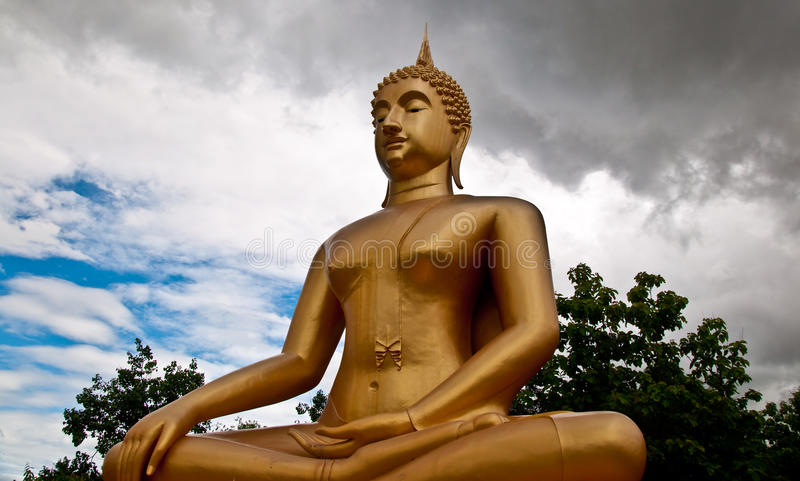 The Buddha status. Of sukothai province,Thailand stock photography