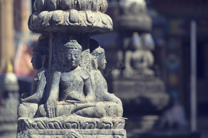 Buddha status. In nepal mountains stock photo