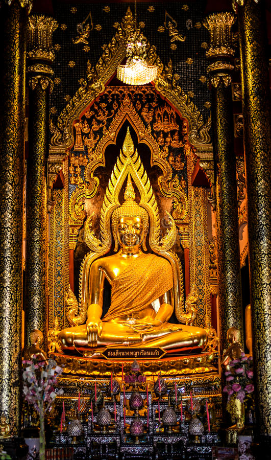 Buddha status. In phitsanulok thailand stock photo