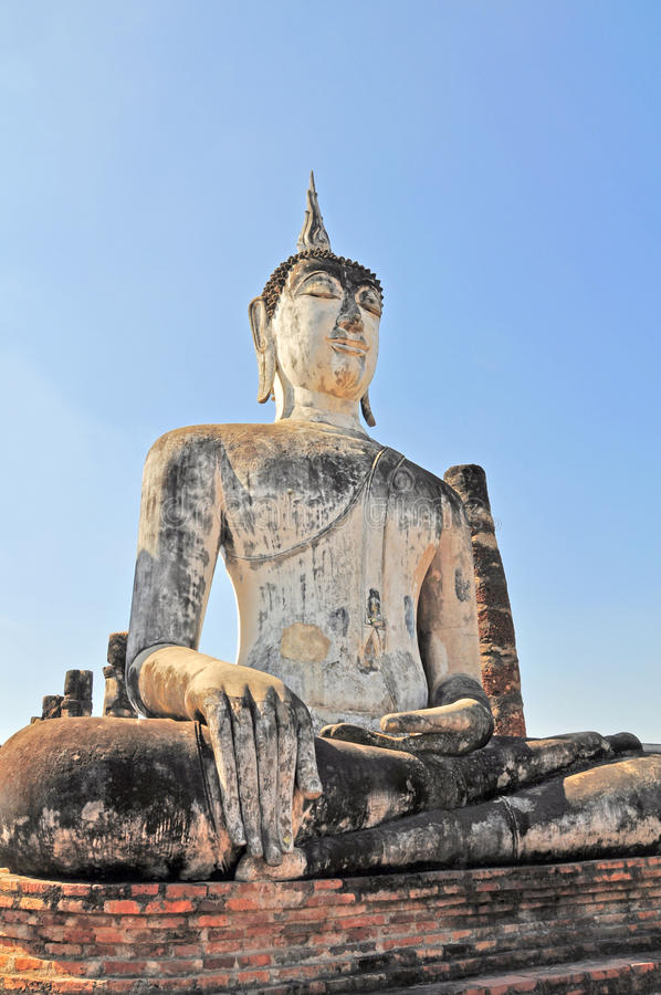 Buddha status. At Sukhothai Historical Park, Sukhothai, Thailand royalty free stock photo