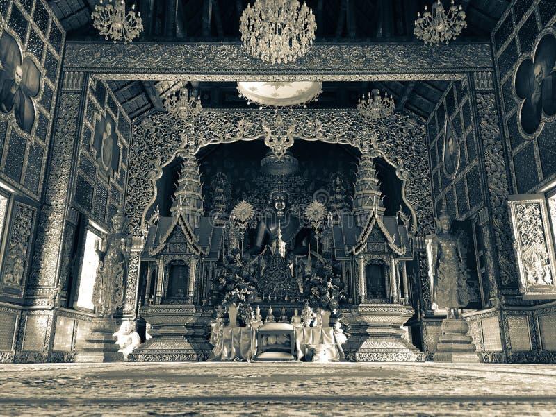 Buddha statuy ludzie płacą hołd wiara przy chaingmai, Thailand obraz royalty free