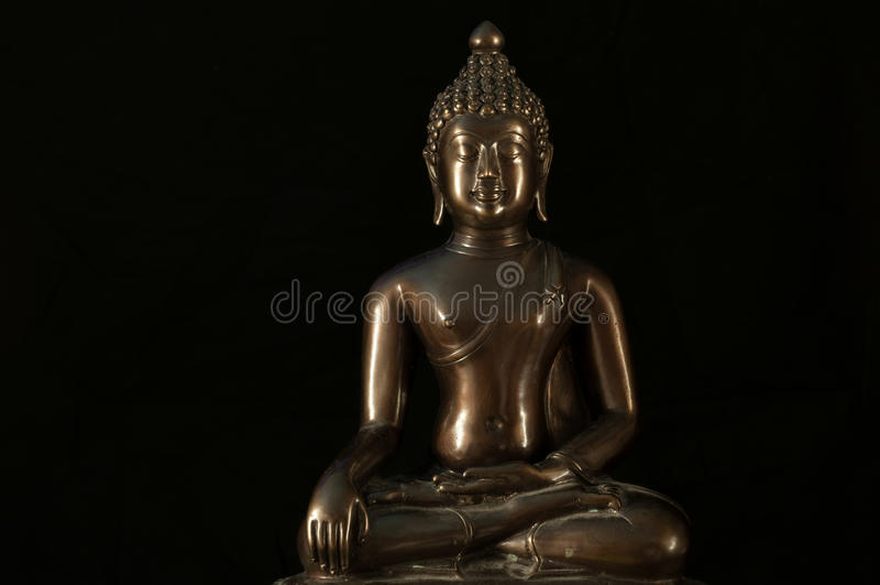 Buddha statuy medytacja obraz stock