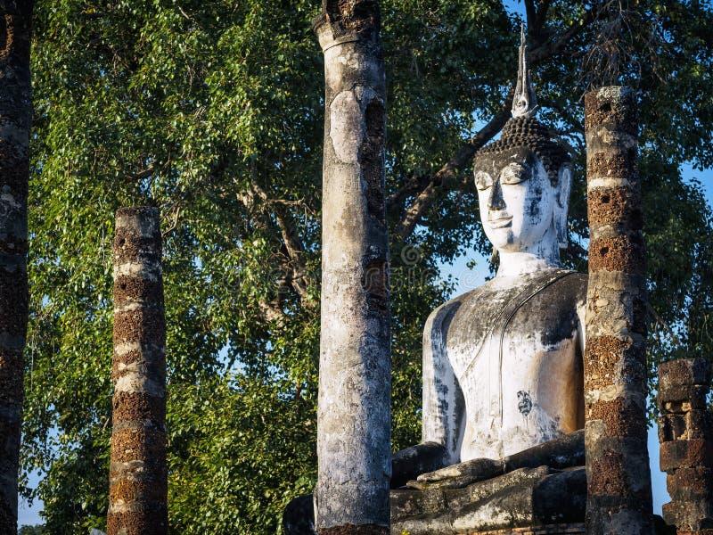 Buddha statuy Sukhothai światowego dziedzictwa Tajlandia sztuki architektury Azja Dziejowa Parkowa podróż zdjęcia royalty free