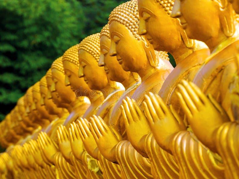 Buddha statuy w świątyni, Tajlandia zdjęcia stock