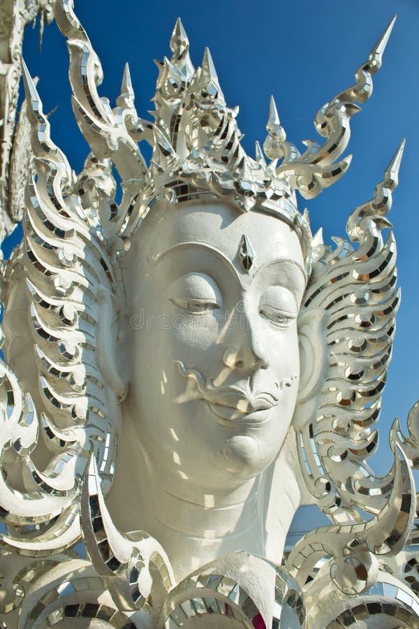 Buddha statuy w Wacie Rong Khun obrazy royalty free