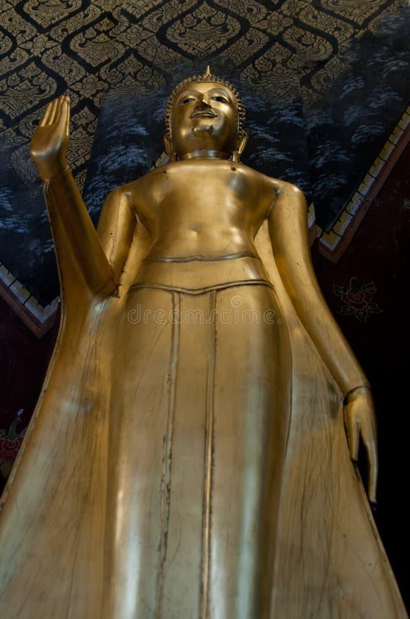 Buddha statuy złoto fotografia royalty free