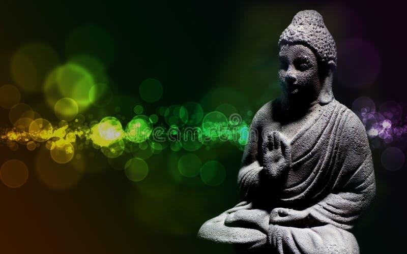 buddha statyzen arkivbild