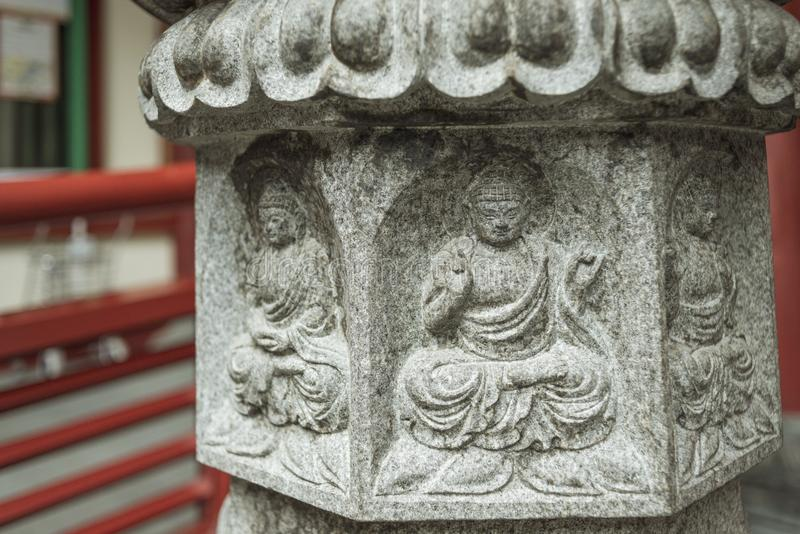 Buddha stone relief royalty free stock photography