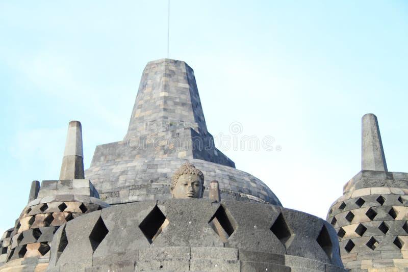 Buddha su Borobudur fotografie stock libere da diritti