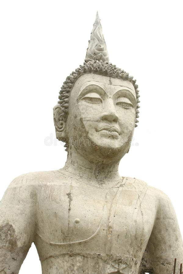 Buddha su priorità bassa bianca fotografia stock libera da diritti