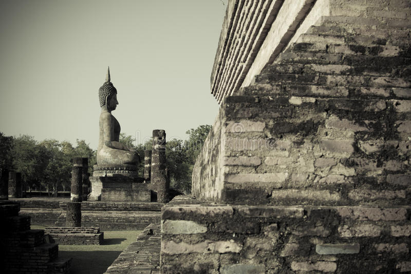 Buddha in Sukhothai Historical parks of Thailand. Sukhothai Historical parks of Thailand stock photography