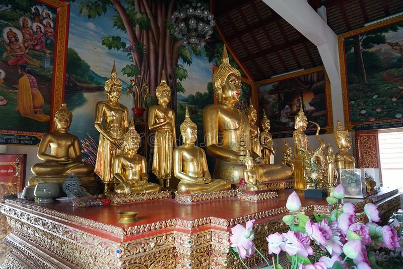 Buddha Tajlandia buddyzmu Świątynnego bóg podróży Złocista religia obraz royalty free