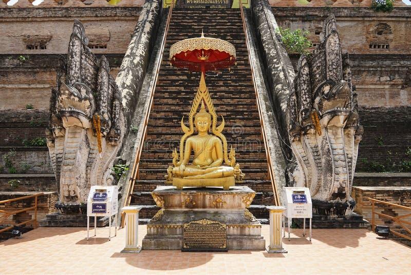 Buddha Tajlandia buddyzmu Świątynnego bóg podróży Złocista religia obrazy royalty free