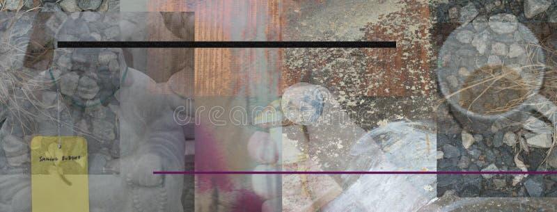 Buddha Tea Abstract. Buddha and Tea Abstract Composition vector illustration