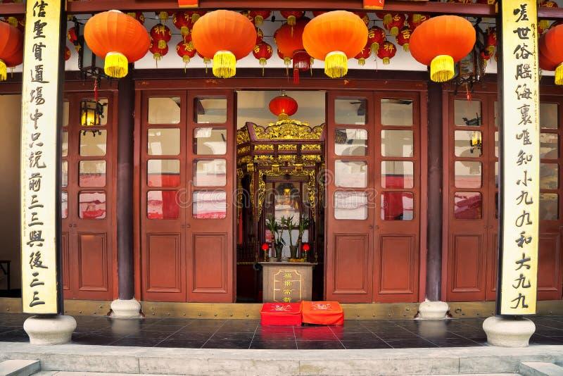 Buddha-Tempel in Shanghai China stockbilder