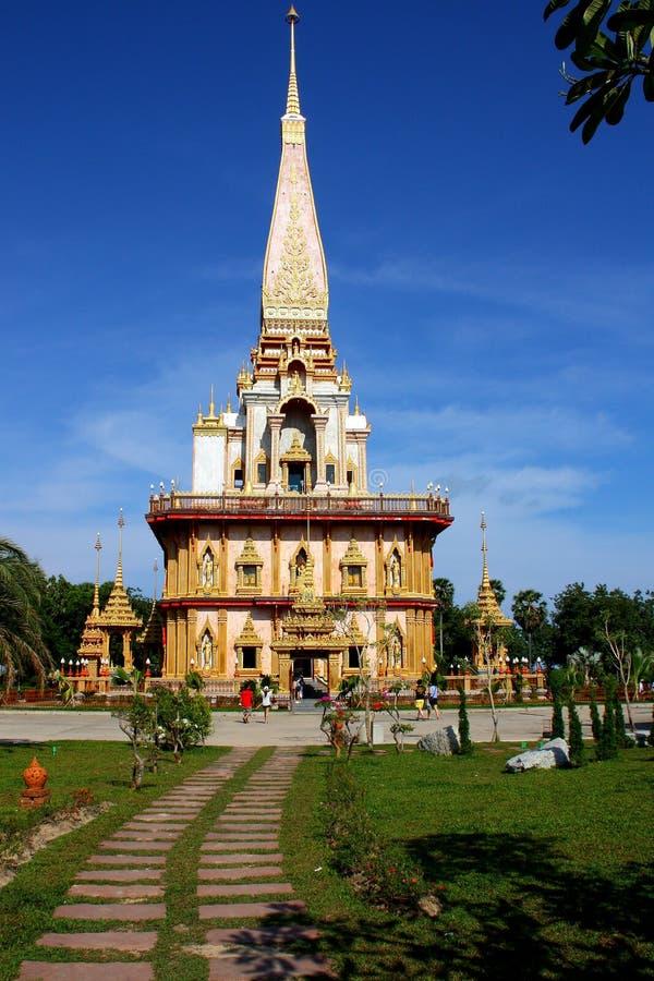 buddha tempel thailand arkivbild