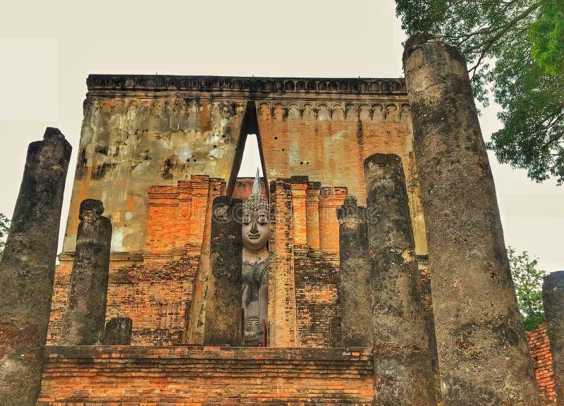 Buddha in tempio 3 dell'amico di sri fotografie stock