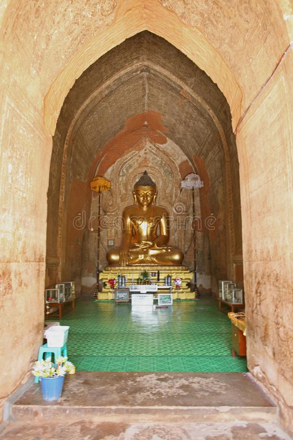 Buddha in tempio di Bagan immagine stock