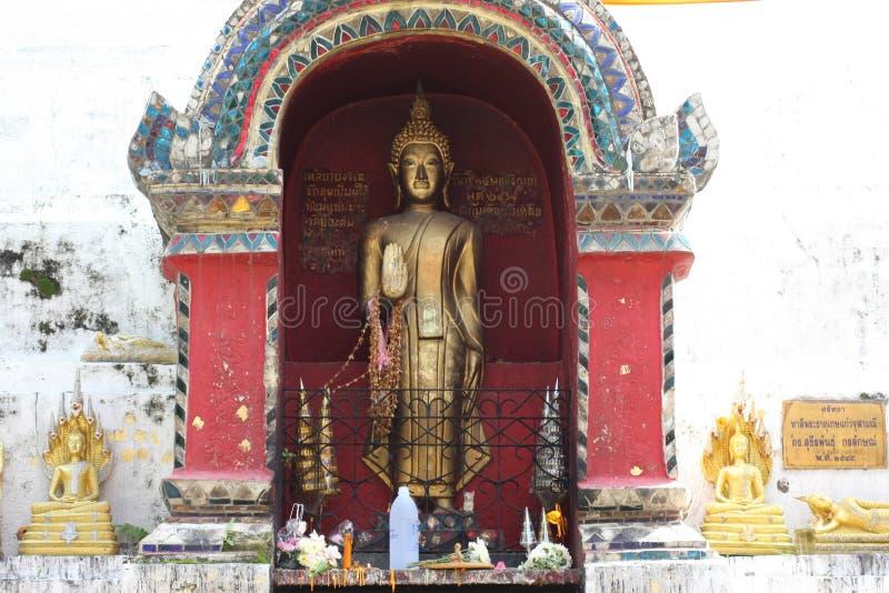 Buddha on Temple. Buddha image in Chiangmai Thailand royalty free stock image