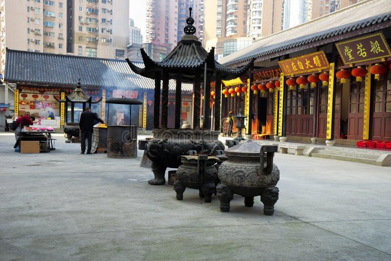 Buddha Temple in Shanghai China royalty free stock photos
