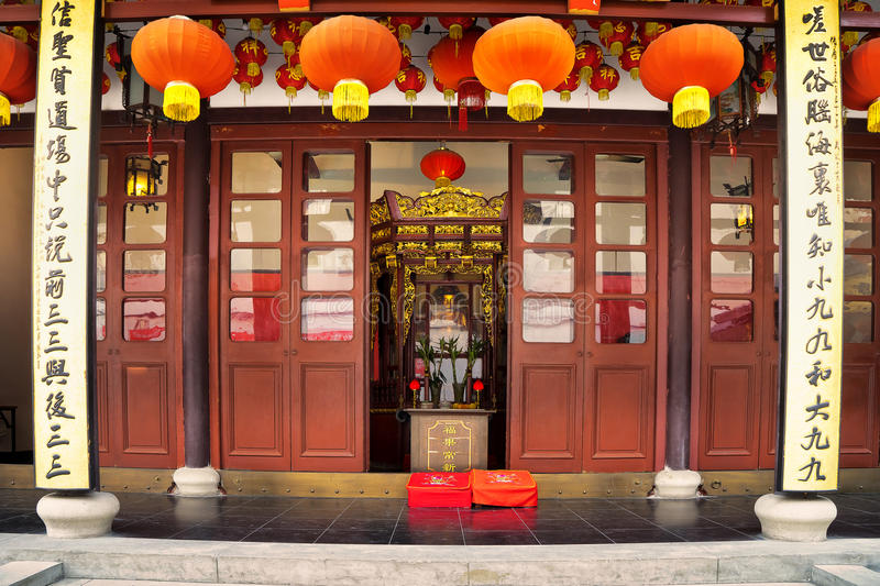 Buddha Temple in Shanghai China. A Buddha sculptures at the Jade Buddha Temple in Shanghai China stock images