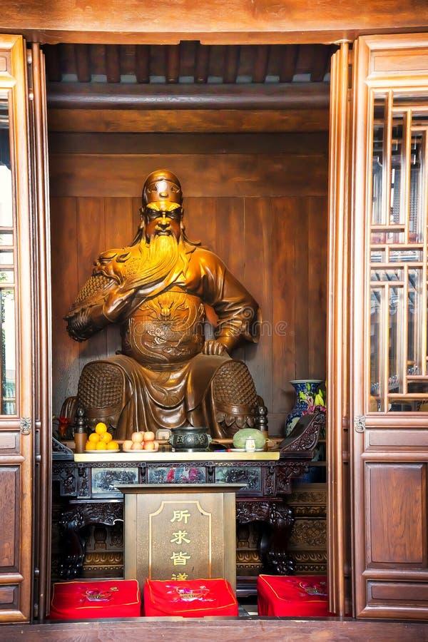 Buddha Temple in Shanghai China stock image