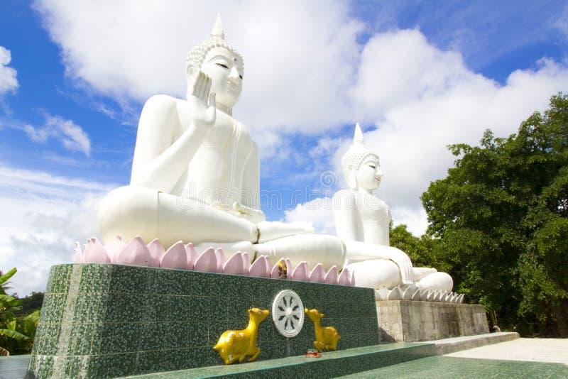 White Buddha stock photo