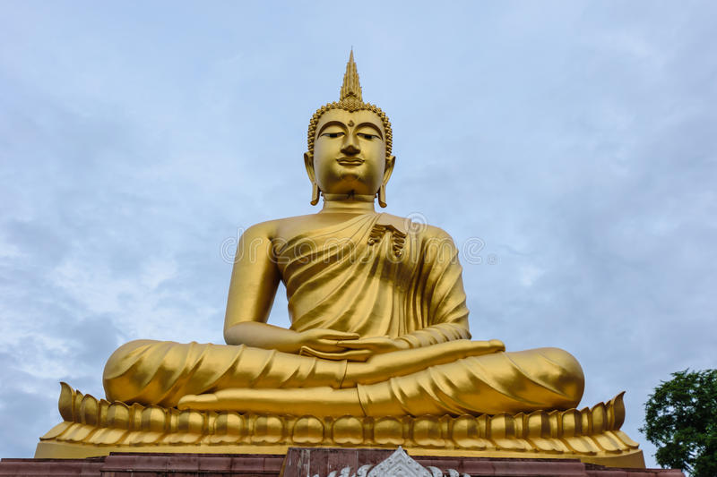 Buddha in temple royalty free stock photo