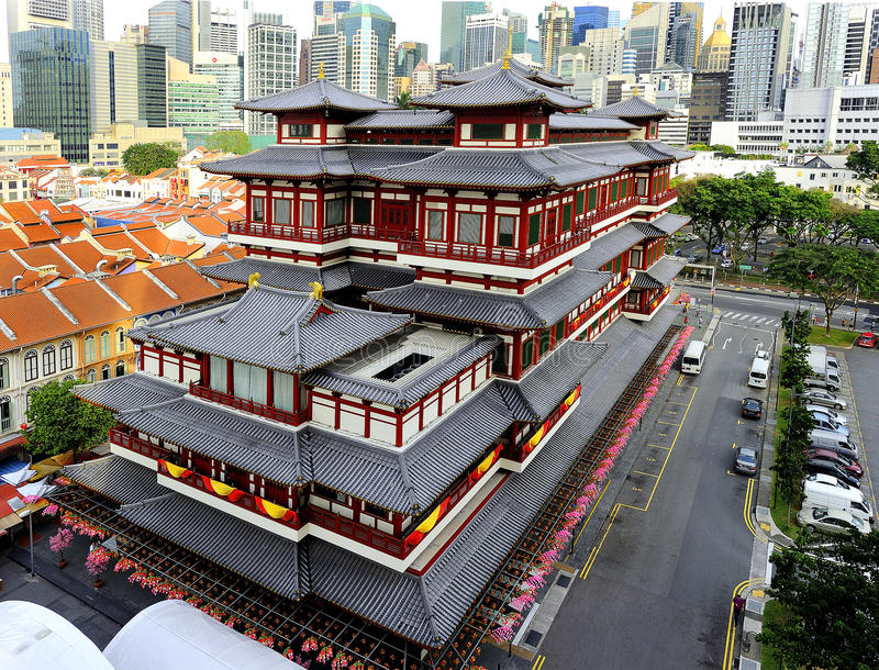 The Buddha Tooth Relic Temple stock image