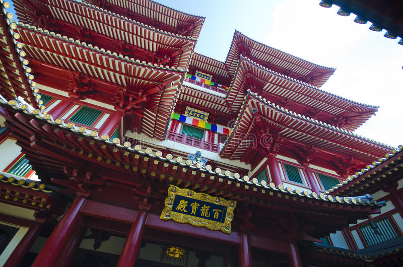 Buddha Tooth Relic Temple In China Town ,  Singapore Royalty Free Stock Images