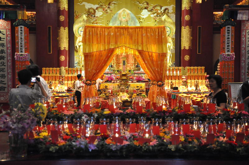 Buddha Tooth Relic Temple and Museum in Singapore stock photos