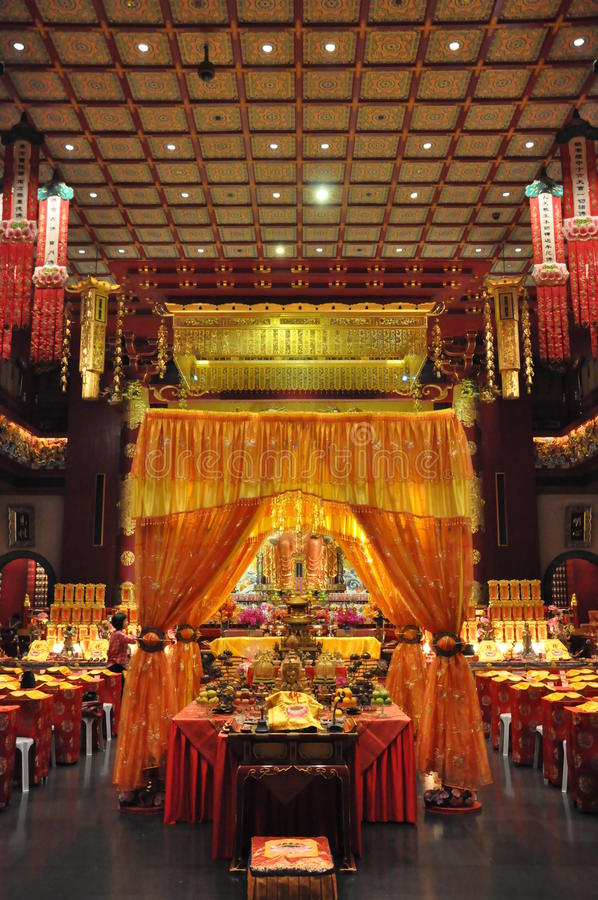 Buddha Tooth Relic Temple and Museum in Singapore stock images
