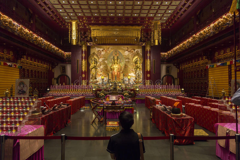 Buddha Tooth Relic Temple in Singapore royalty free stock images