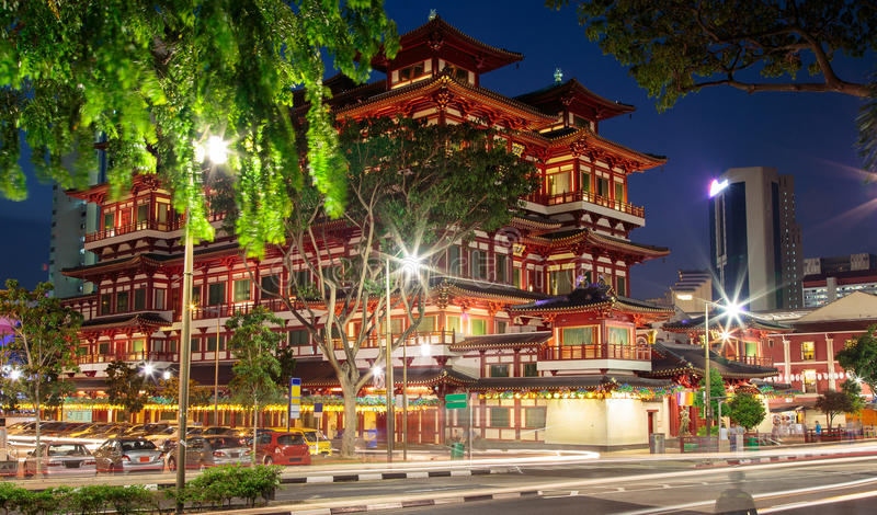 Buddha Toothe Relic Temple Chinatown Singapore royalty free stock photography