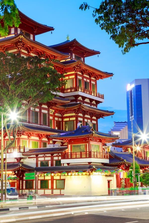 Buddha Toothe relikwia Świątynny Chinatown Singapur zdjęcie stock