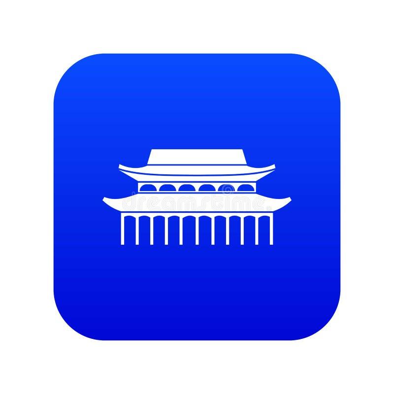 Buddha Toothe relikwii świątynia w Singapur ikony cyfrowym błękicie royalty ilustracja