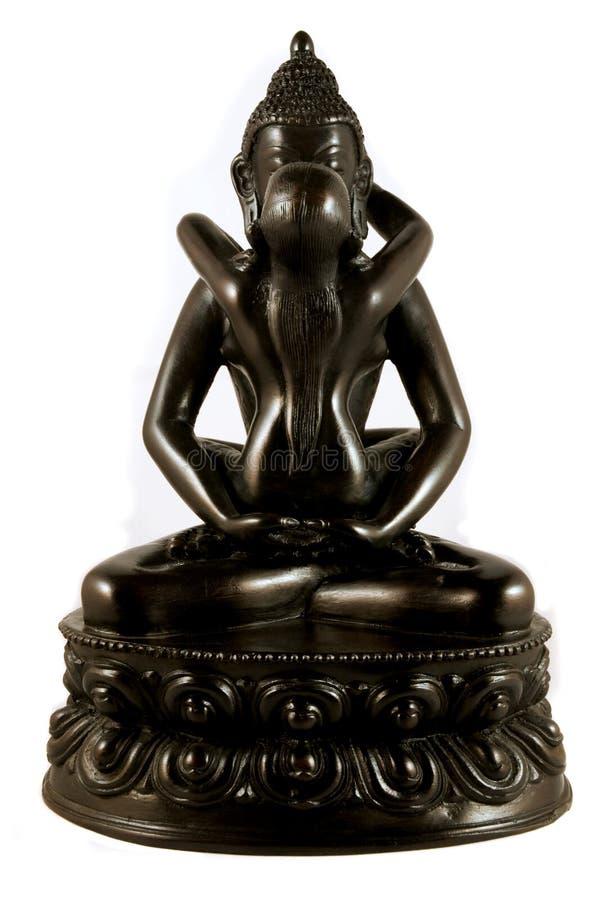 Buddha und sein Gemahl stockfotografie