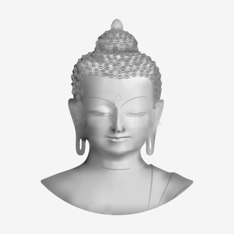 Buddha vänder mot royaltyfri illustrationer