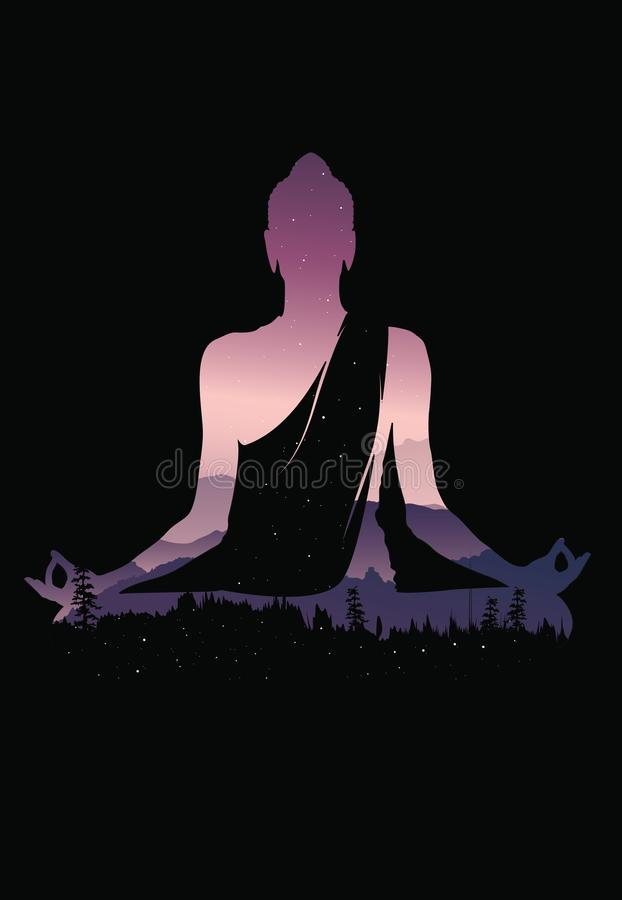 buddha vector abstract buddha on black background buddha and nature meditation background stock vector illustration of design concept 113364127 buddha vector abstract buddha on black